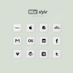Mac style social icons by designbold