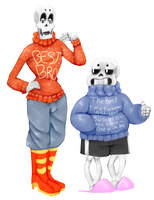 Skelebros and sweaters by evillovebunny500