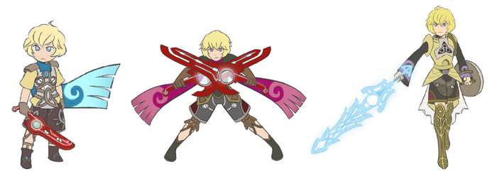 Shulk Evolution Line by Saber-chan