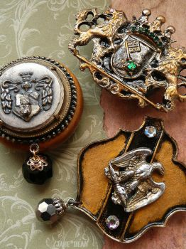 Heraldic crest magnets by janedean