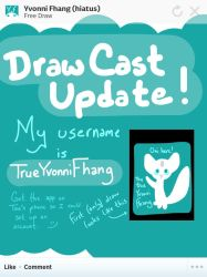 I have a DrawCast account! by YvonniFhang