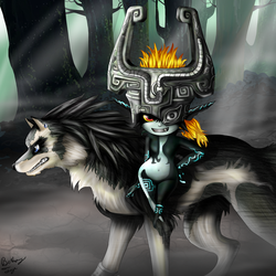 Link and Midna by FlyingPings