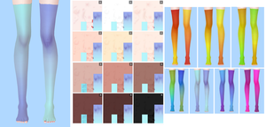 texture TDA: gradient stockings 7 and 7+ colors. by NekaSan