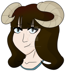 Cherie With New Horns by CallieCaron