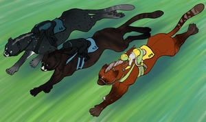 Rockport Stakes - The Running Threesome by Danesippi