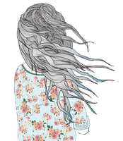 Chica Vintage Volteada Con flores Png by PauTutoriales1806