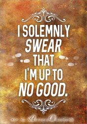 I solemnly swear that I'm up to no good - PRINT by RoryonaRainbow