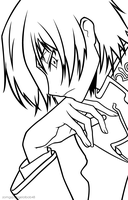 Lelouch: Thinking line art by zomgspongelolbob48