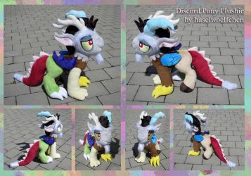 Discord Pony Plushie by haselwoelfchen