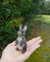 Needle felted cottontail bunny rabbit by amber-rose-creations