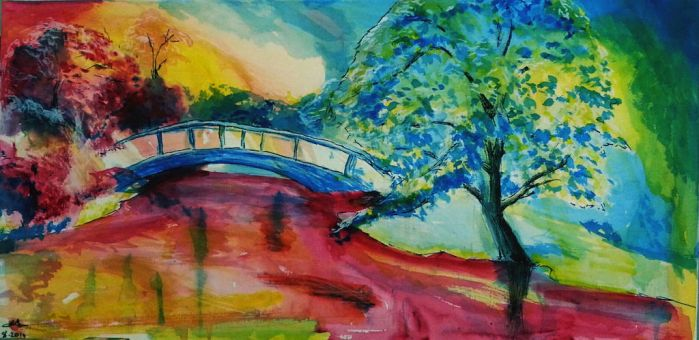 Colorful Landscape by Eden-ArtFromTheHeart
