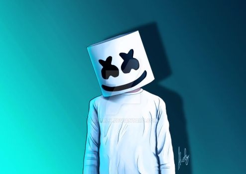 Marshmello fanart by akerly