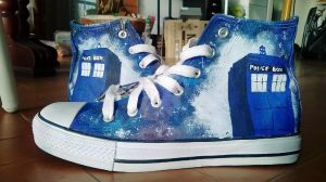 Tardis sneakers! by LadyFabcurly
