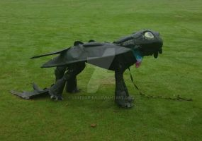 Toothless Costume (for a dog) by leafeon-ex