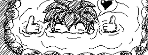 Miiverse Doodle #35 - Who Loves Hot Springs? by ChibiSkeven