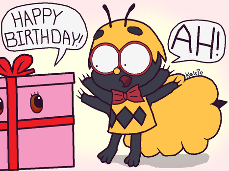 Momo Birthday Bug by MissFinefeather