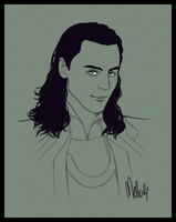 Another Loki Portrait by MellorianJ