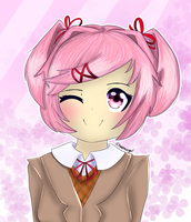 Natsuki From DDLC by CharmingSquad