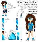 Blue Tourmaline - Reference by CandyAICDraw