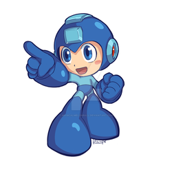Mega Man Powered Up by MagicalMelonBall