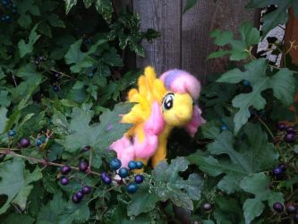 Needlefelted Fluttershy by Black-Feather