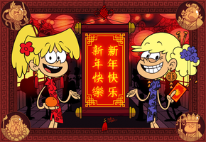 [MM] 'LOUD HOUSE' Style: Happy CHINESE New Year! by Master-Rainbow