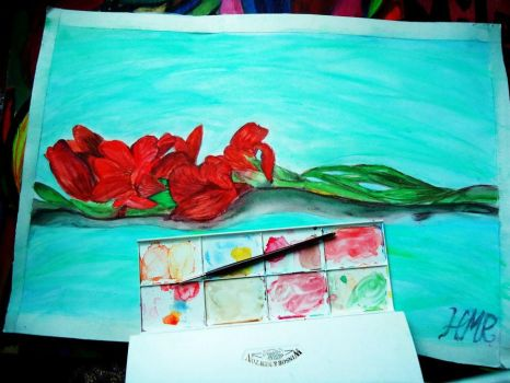 Flowers - First Painting by 242milo242