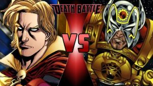 Adam Warlock vs. Orion by OmnicidalClown1992