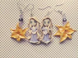 Clay Rapunzel Earrings by M-Made
