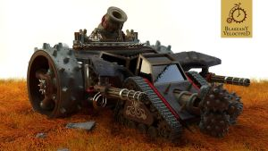 Steampunk Mortar Siege Engine by Kurczak