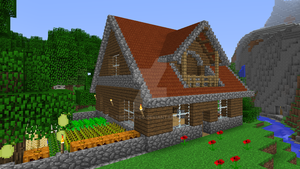 Minecraft - Wooden house by Timidouveg