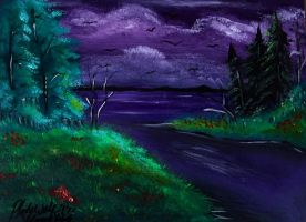 Forest inlet by pladywolf82