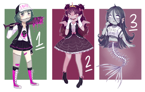 Halloween Adopts !! - CLOSED by eight-legs