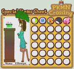 PKMN-Crossing: Ellowyn's Special Items Sheet by Aoiameku