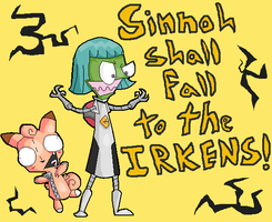 The Irkens Now Own Sinnoh by JailbotNinetales