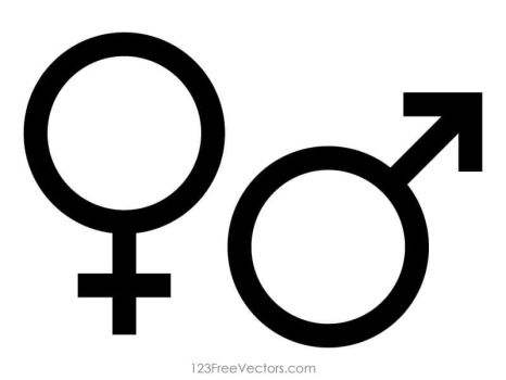 Male and Female Gender Symbols Free Vector by 123freevectors