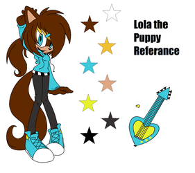 -REF- Lola the Puppy -COLLAB- by In2ufferablePriick
