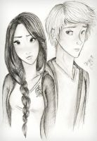Katniss Everdeen and Peeta Mellark by caligrl7072
