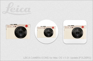 LEICA CAMERA ICONS for Mac OS v1.01 Update [FLDRS] by EZBOI