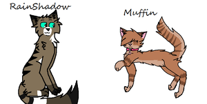 Rainshadow and Muffin by Little0rca