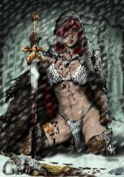 Red Sonja vs Nord by nielisson