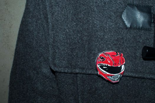 Go GO Red RANGER Pin by CleverTrever