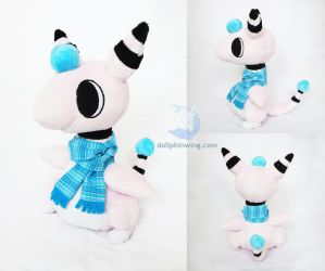 Shiny Ampharos Plushie (Pattern Available) by dollphinwing