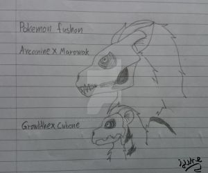 Pokemon Fusion: Growlithe and Arcanine by Elmer157Typhlosion