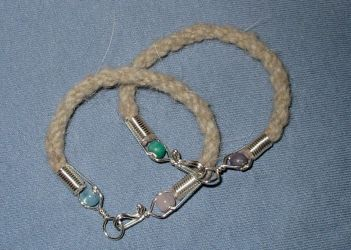 Johis Arctic Wolf Bracelets by Wolf-of-Samhain