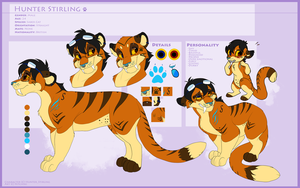 Hunter Stirling Reference (Commission) by Kitchiki