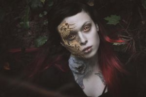 Her body is the house for dead bees II by MariaPetrova