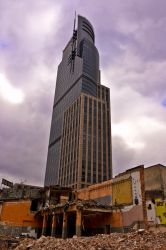 Ruine and glass skyscraper, Warsaw by mysterious-one