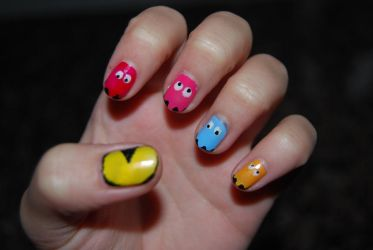Pacman Nails in HQ by martinrivass