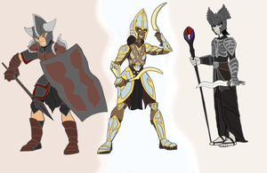 Child Warrior Concepts by Troyodon